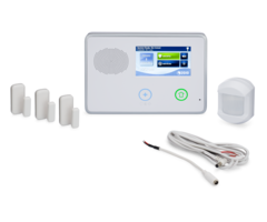 "2GIG GC2 3-1 Kit - Wireless Security System, 3 Door/Window Sensors, Motion, and 8"" Cable"