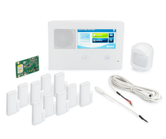 2GIG GC2e AT&T LTE 10-1 Kit - Wireless Encrypted Alarm System, 10 Door/Window Sensors, Motion, 1 8-ft Cable