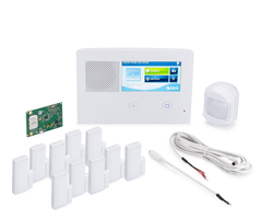 2GIG GC2e Verizon-LTE 10-1 Kit - Wireless Encrypted Alarm System, 10 Door/Window Sensors, Motion, 1 8-ft Cable