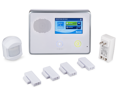 2GIG GCKIT410 - Wireless Security System with 4 Door/Window Sensors and 1 Motion Detector