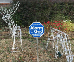 Alarm Grid Security Yard Signs Christmas Signs