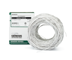 Genesis WG-11021101 boxed - 22 gauge 2 conductor (22/2) unshielded stranded cabling, 1000 foot box