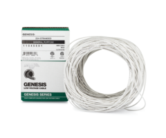 Genesis WG-11045501 boxed - 22 gauge 4 conductor (22/4) unshielded stranded cabling, 500 foot box