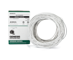 Genesis WG-11185501 boxed - 18 gauge 2 conductor (18/2) unshielded stranded cabling, 500 foot box