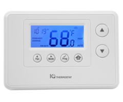 IQ Qolsys Thermostat - Z-Wave Thermostat Compatible w/ IQ and IQ Panel 2 (QZ2200-840)