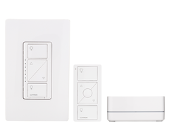 Lutron Caseta P-BDG-PKG1W - Unboxed Single In-Wall Dimmer Starter Kit w/ Smart Bridge