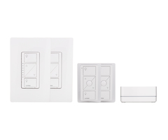 Lutron Caseta P-BDG-PKG2W - Dual In-Wall Dimmer Starter Kit w/ Smart Bridge