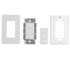 Lutron Caseta P-PKG1W-WH - Unboxed In-Wall Dimmer Remote Kit