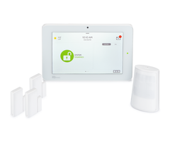 Qolsys IQ Panel 2 Plus 319.5 MHz AT&T-LTE 3-1 PowerG Kit - Wireless Alarm System, 3 PowerG Door/Window Sensors, 1 PowerG Motion