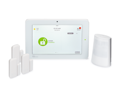 Qolsys IQ Panel 2 Plus 345 MHz AT&T-LTE 3-1 System Kit - Wireless Alarm System, 3 Door/Window Sensors, 1 PowerG Motion
