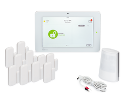 Qolsys IQ Panel 2 Plus 433 MHz AT&T-LTE 10-1 System Kit - Wireless Alarm System, 10 Door/Window Sensors, 1 PowerG Motion