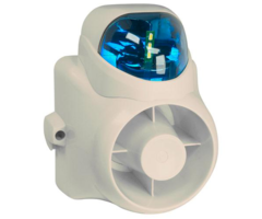 WBOX OE-OUTDSIRS Blue - 120dB Outdoor siren with Strobe that comes in Amber, Clear, Blue, or Red
