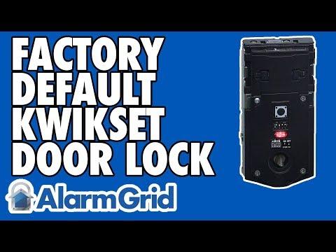 How Do I Factory Default My Kwikset Z Wave Lock Alarm Grid