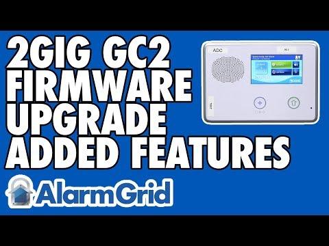 upgrade firmware 2gig gc2 alarm.com
